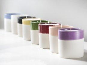Svíčka WAKS v bílé keramice