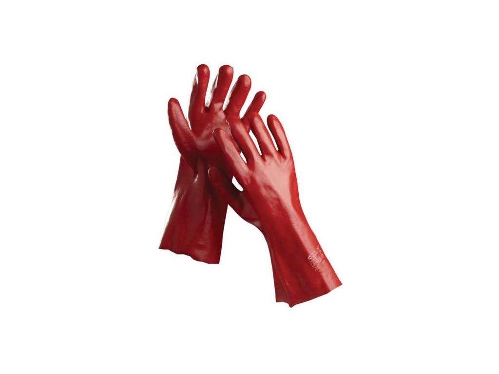 REDSTART pracovní rukavice máčené, 27cm PVC