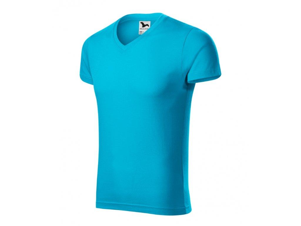 Slim Fit V-neck 146 Tričko pánské