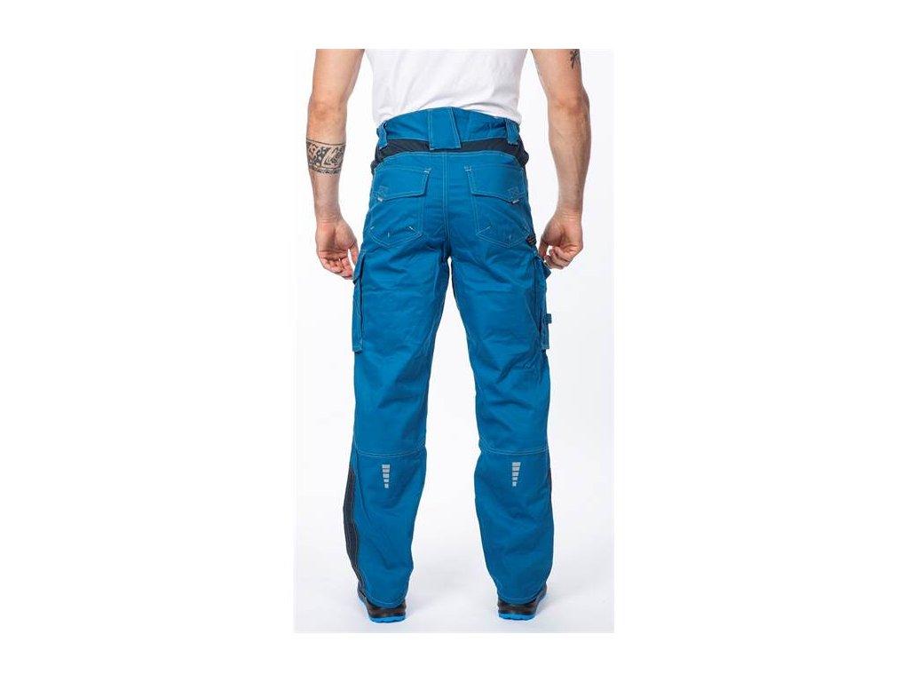 montérkové kalhoty do pasu Vision modré