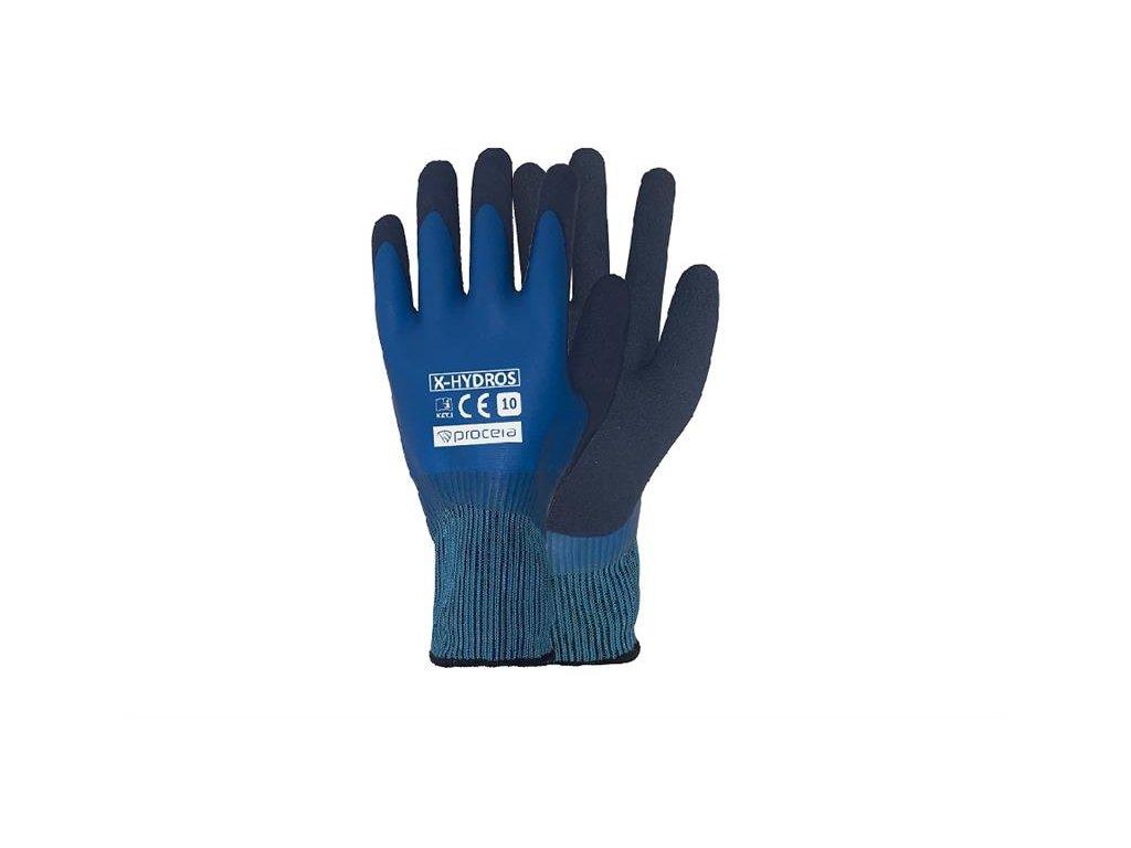 HYDROS nepromokavé pracovní rukavice celomáčené
