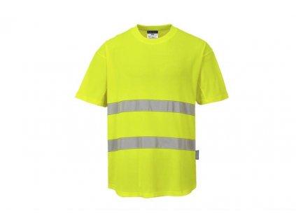 C394 Tričko Mesh výstražné s reflexními pruhy