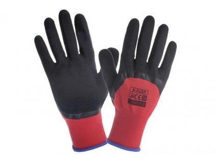 FLOP pracovní rukavice polomáčené v latexové pěně