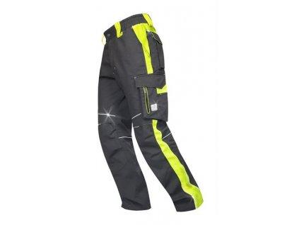NEON kalhoty do pasu černo-žluté