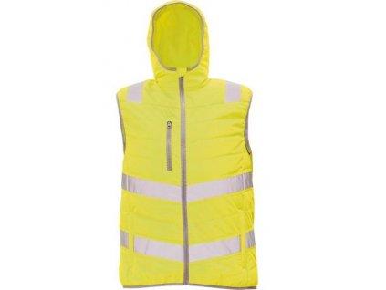 MONTROSE HV reflexní zimní vesta žlutá
