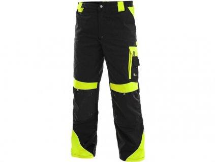 kalhoty do pasu CXS SIRIUS BRIGHTON, černo-žluté