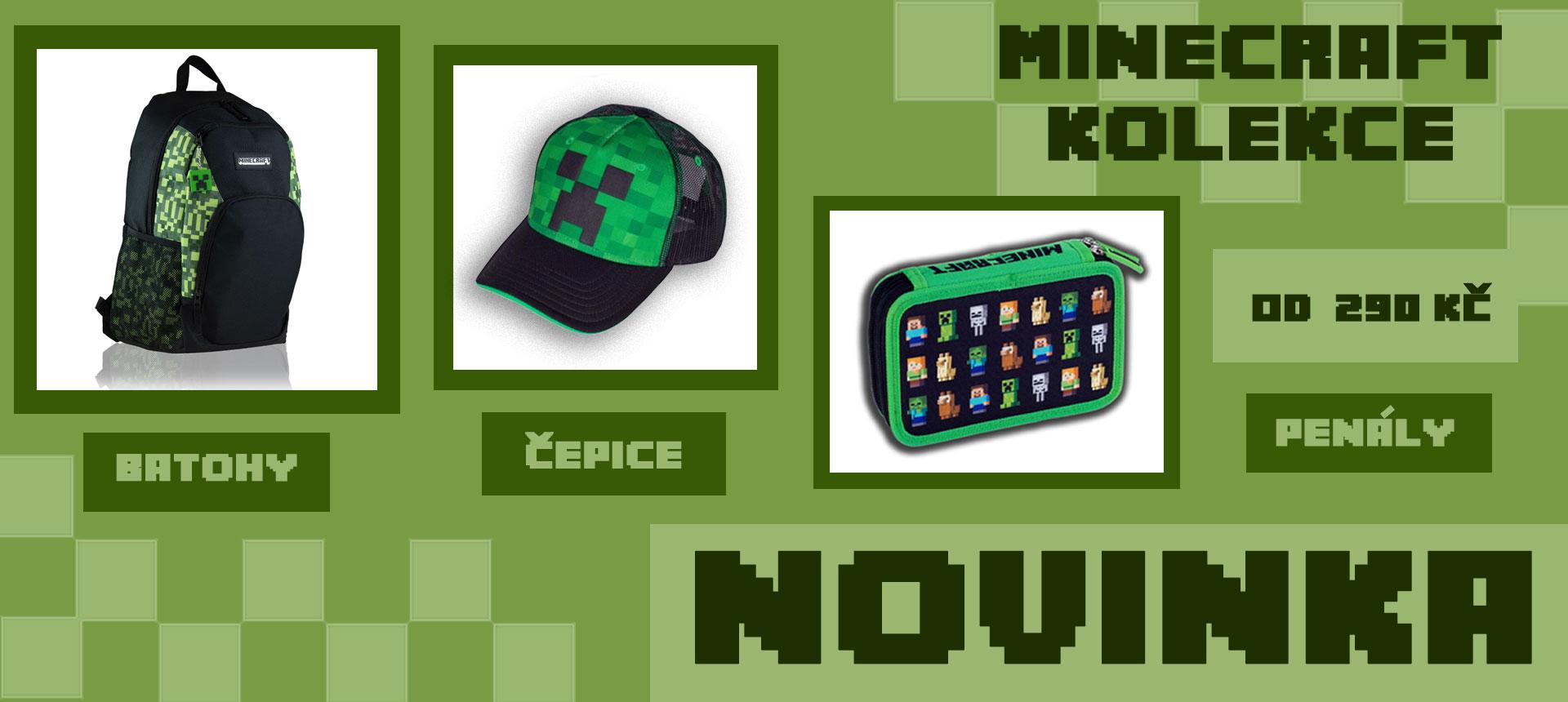 Minecraft - Batohy, čepice, penály