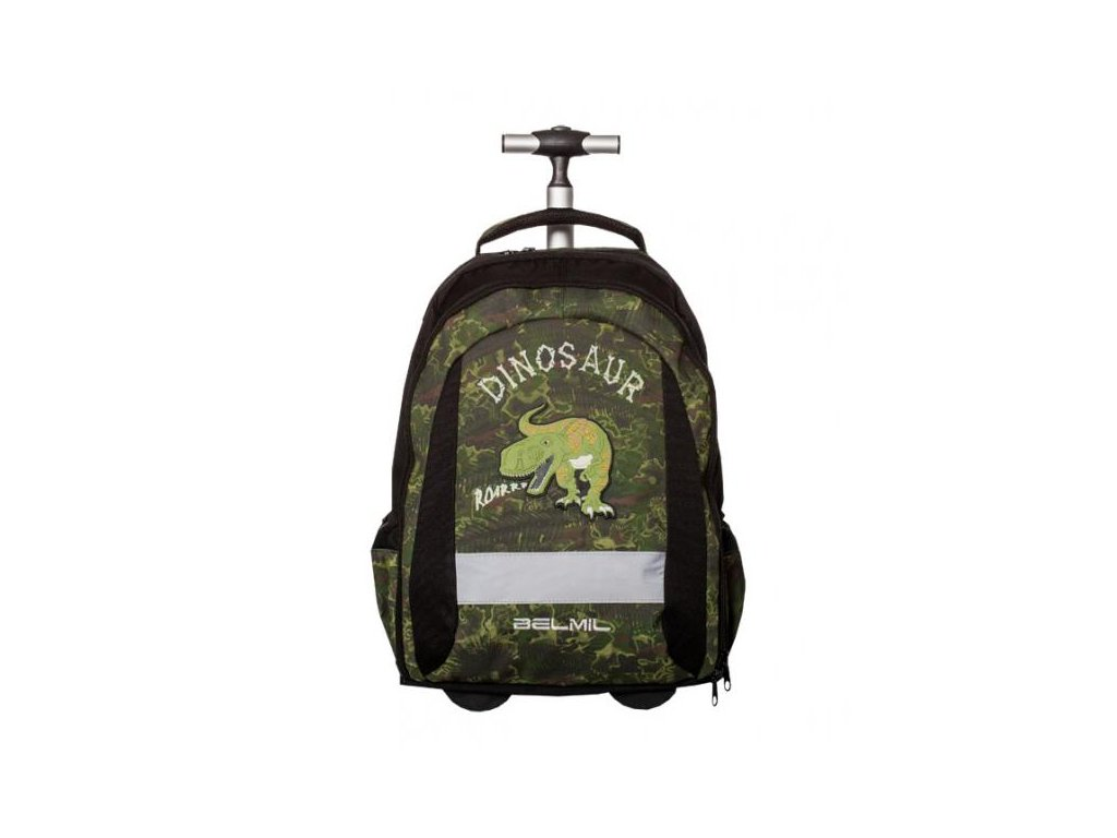 10008 4 skolni batoh na koleckach dinosaur sacek na prezuvky