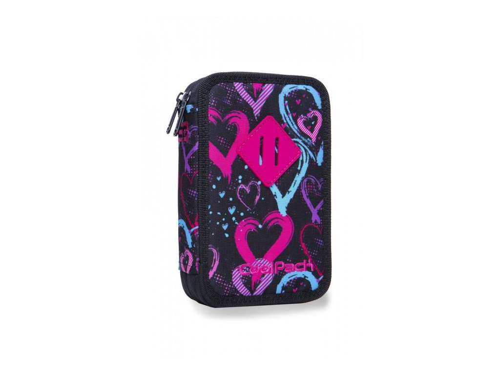 10938 skolni penal coolpack jumper 2 drawing hearts