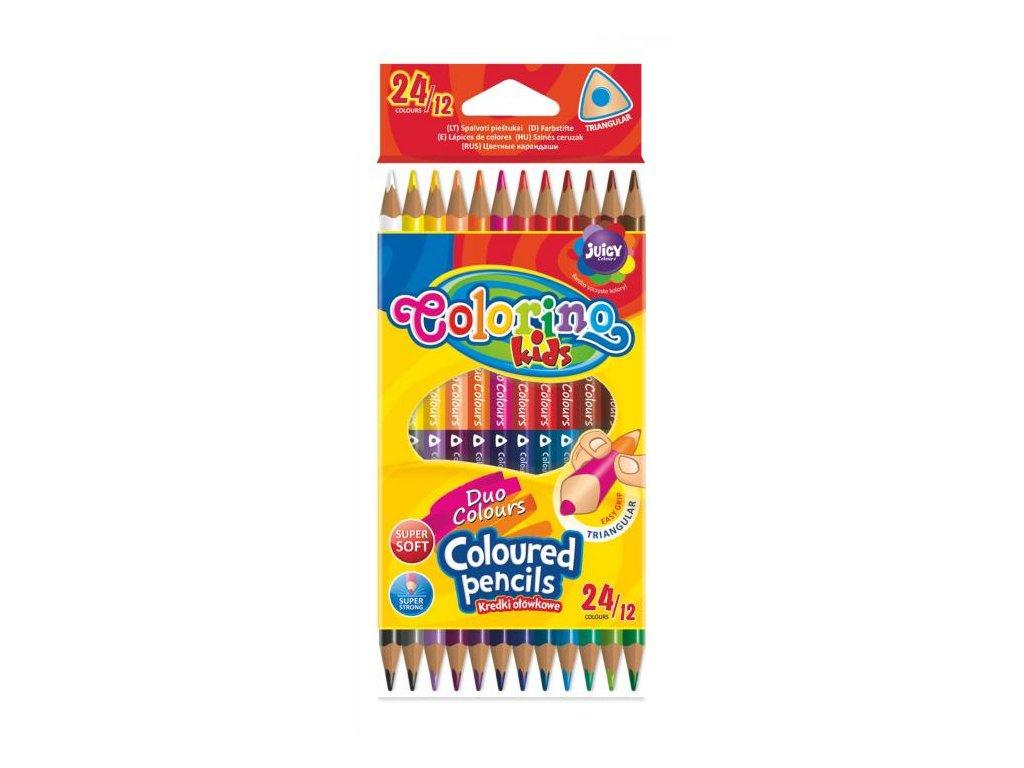 1120 1 colorino pastelky dvoubarevne trio 24 barev