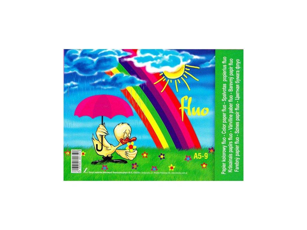 11340 barevny papir fluo a5