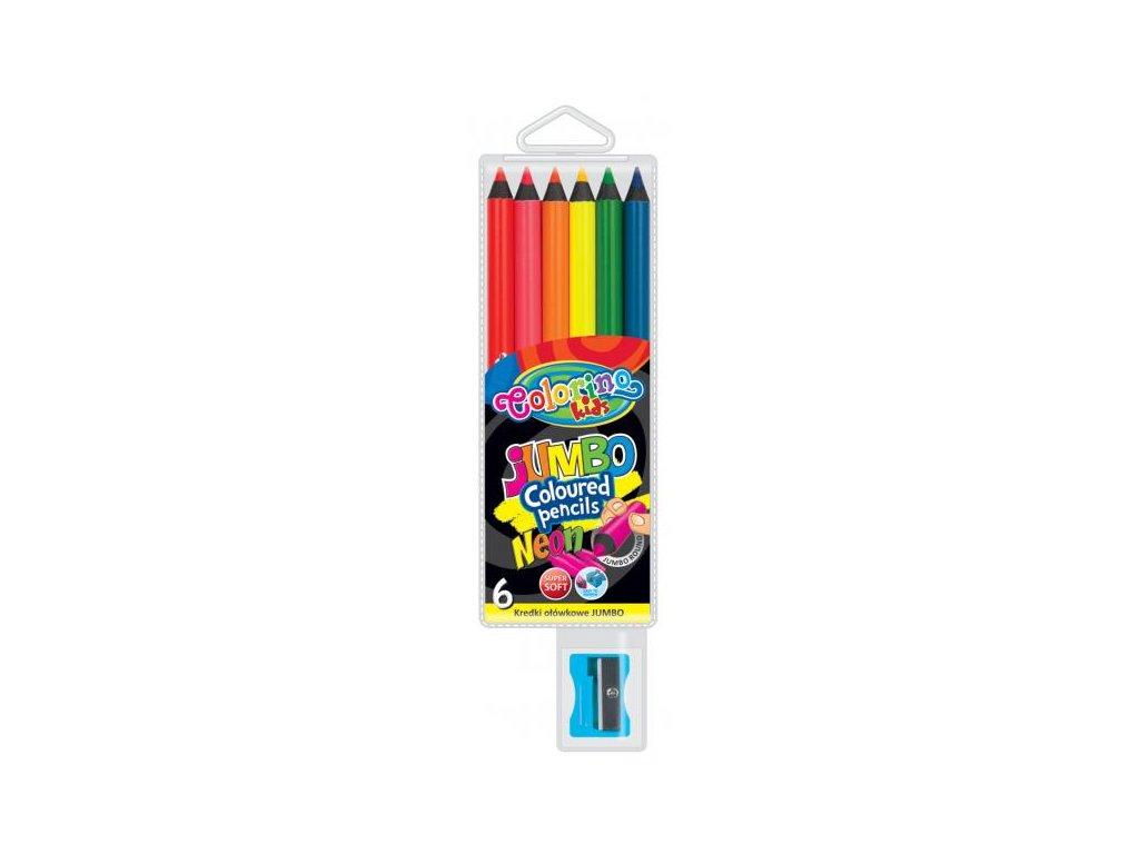 1159 1 colorino pastelky jumbo neon 6 barev