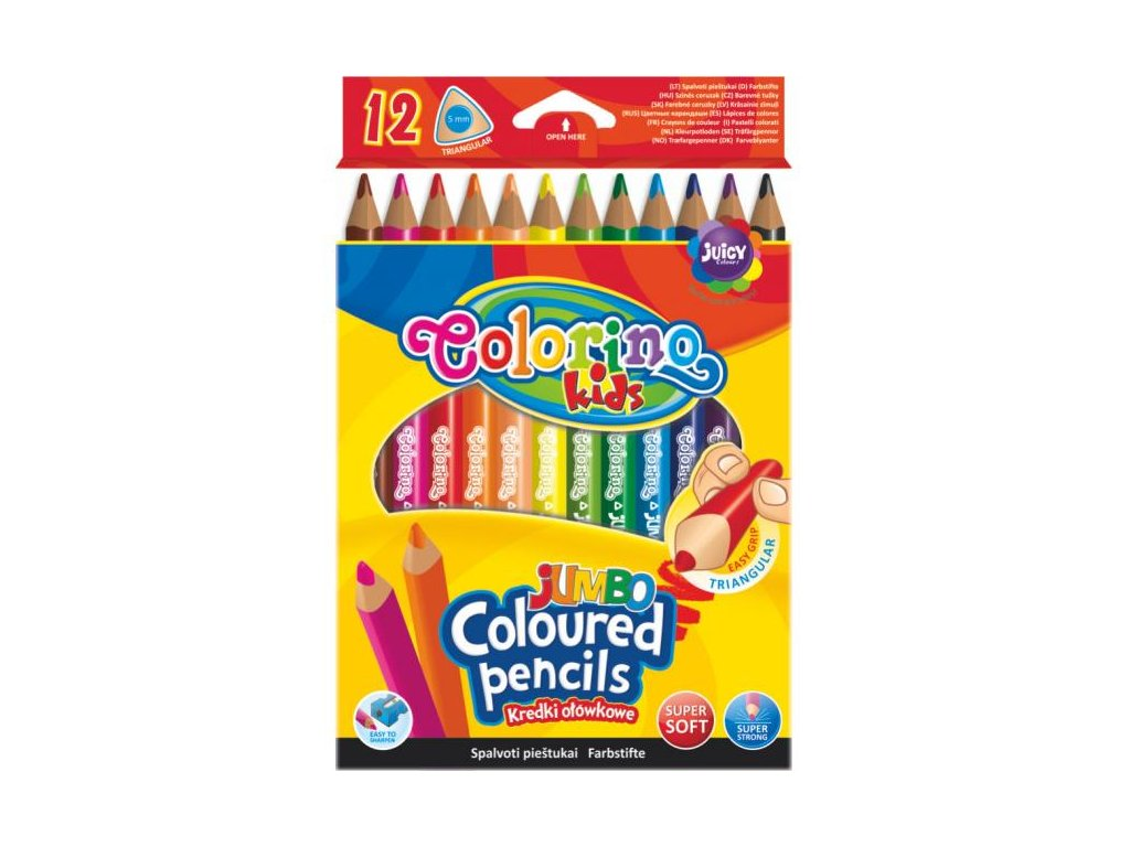 1162 1 colorino pastelky jumbo trio 12 barev