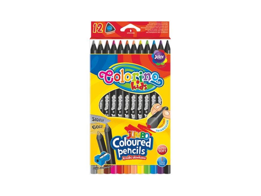 1171 1 colorino pastelky jumbo trio black 12 barev