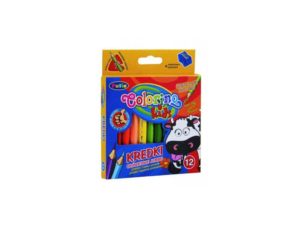 1177 1 colorino pastelky jumbo trio mini 10 barev