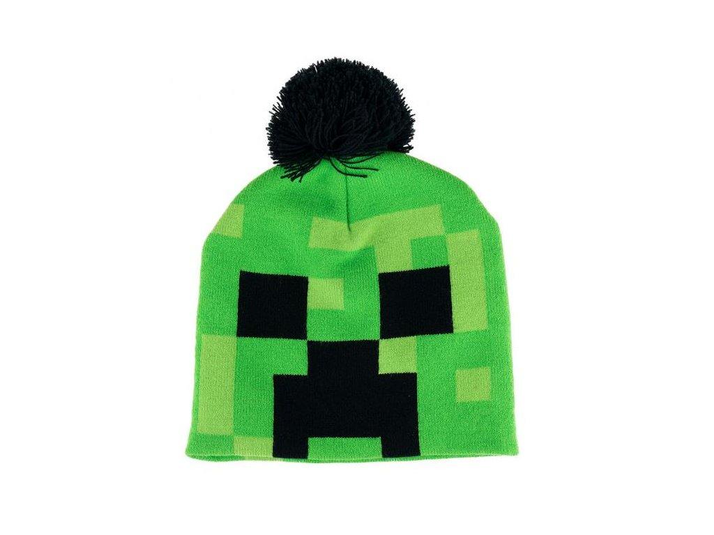 12051 zimni cepice minecraft creeper zelena