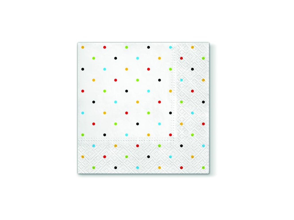 Papírové ubrousky Colorful Dots 20 ks