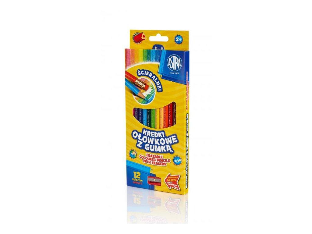 493 2 astra trio pastelky 12 ks s gumou