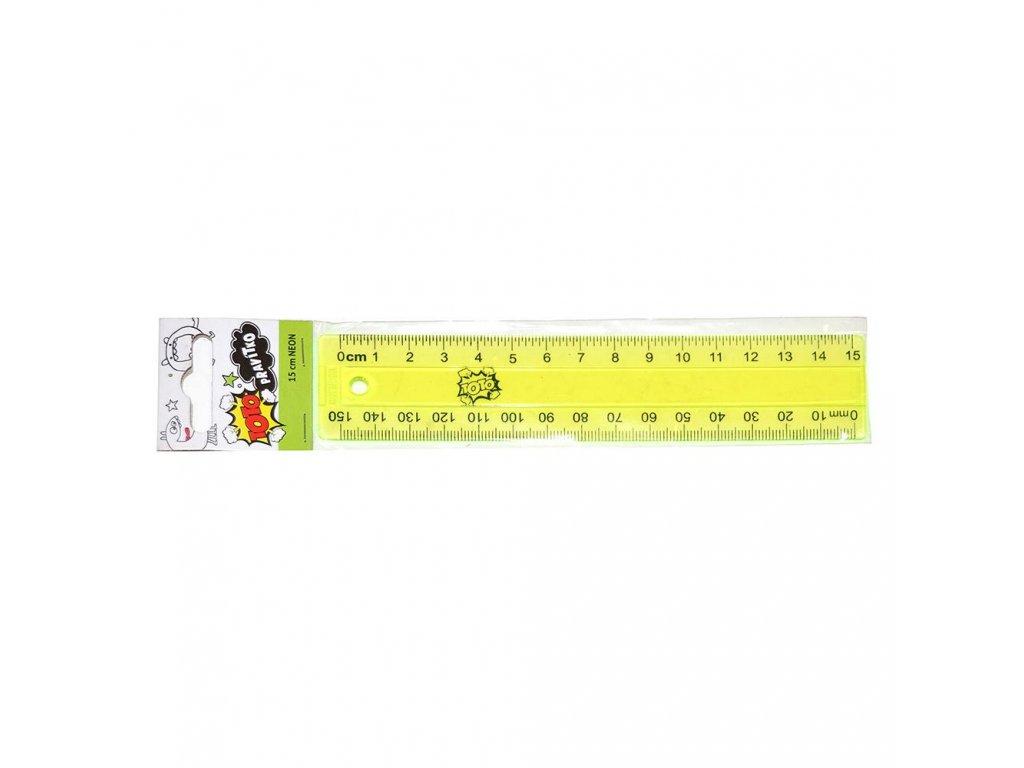 538 1 neonove pravitko toto 15 cm