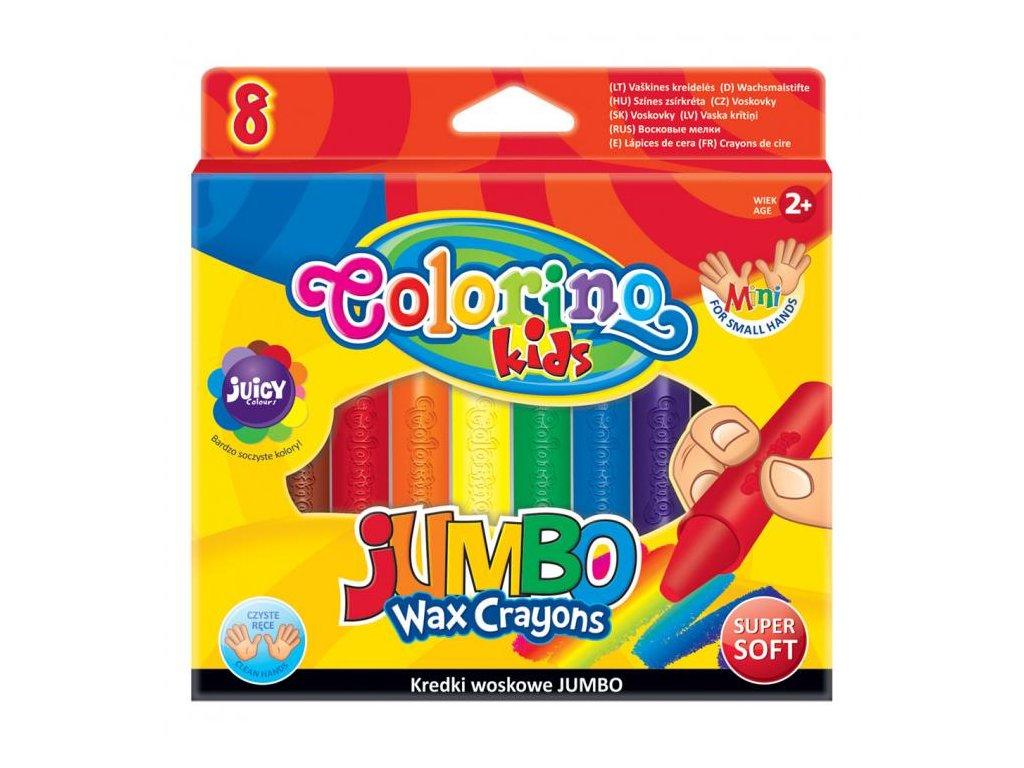5908 1 colorino voskovky jumbo 8 barev