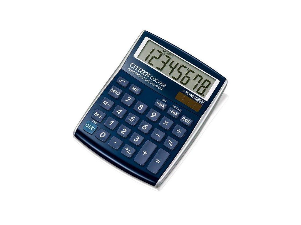 607 1 stolni kalkulacka citizen cdc 80 modra