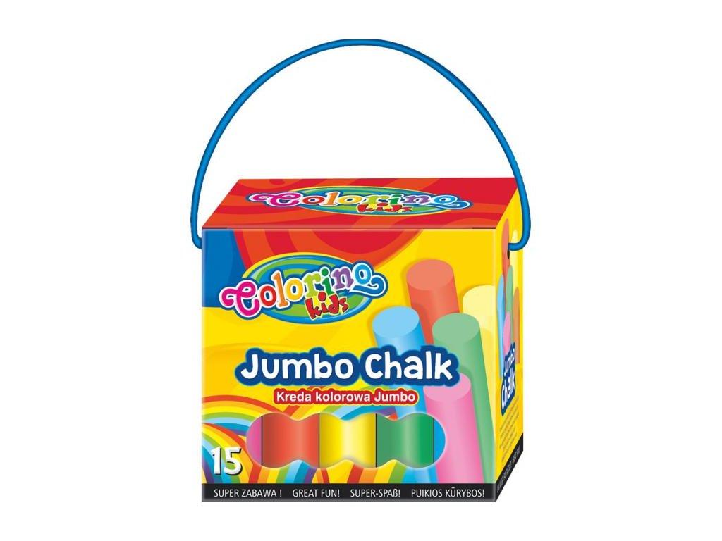 6475 1 colorino chodnikove kridy barevne v kelimku jumbo 15 barev