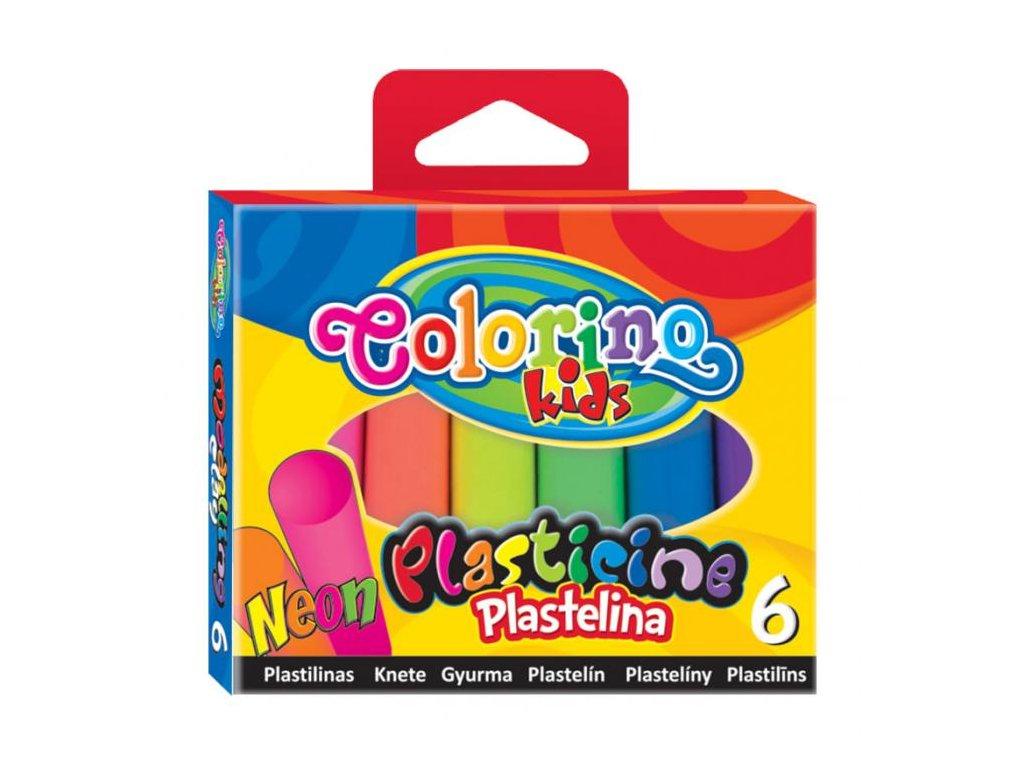 6604 1 colorino plastelina neon 6 barev