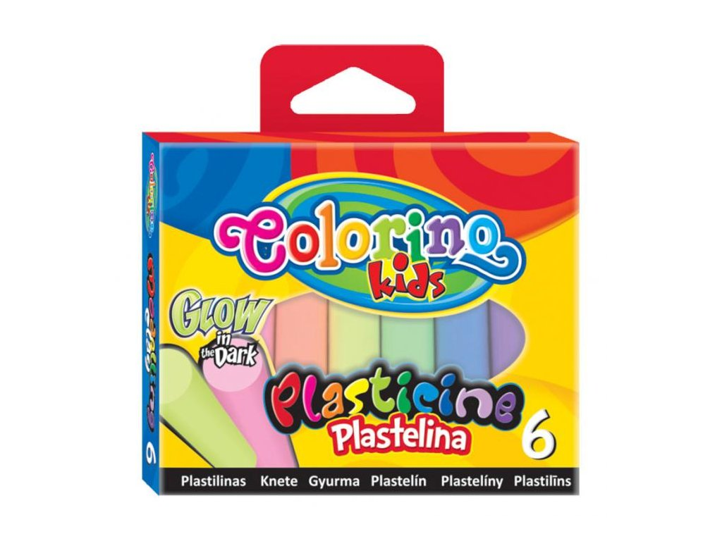 6610 1 colorino plastelina glow 6 barev