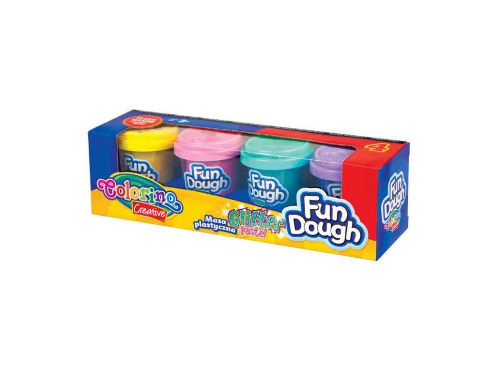 6619 1 colorino modelovaci hmota fun dough brokat 4 barvy