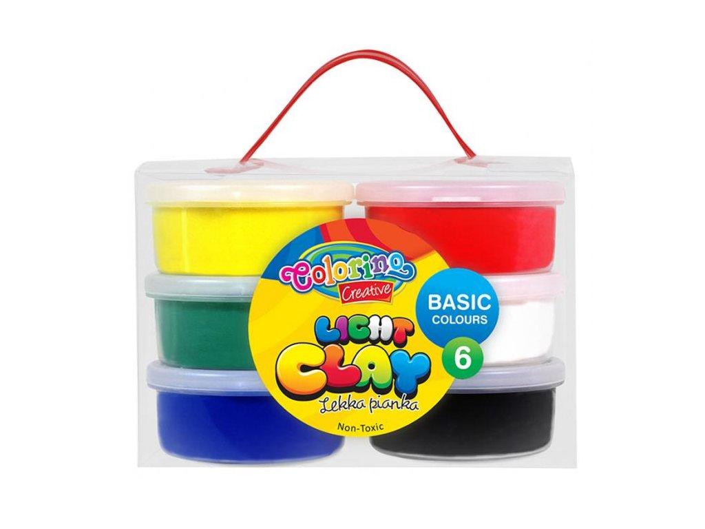 6643 1 colorino modelovaci hmota light clay 6 barev