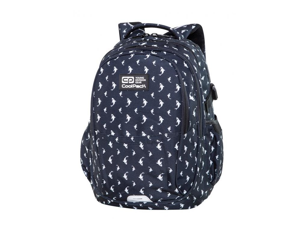 6727 skolni batoh coolpack factor sharks