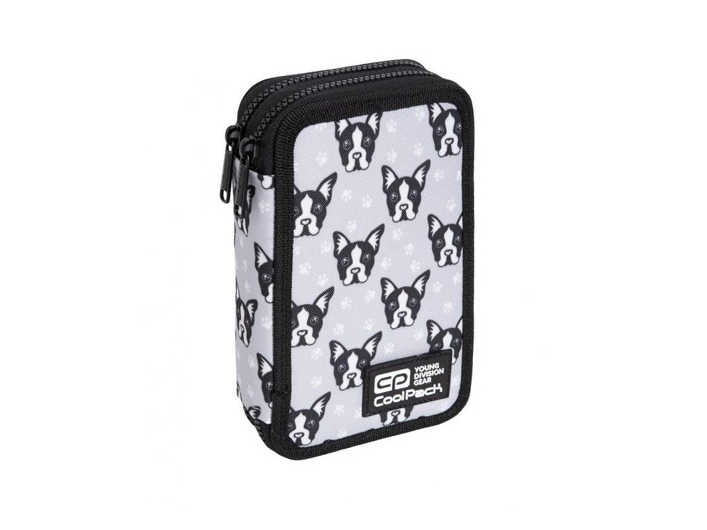6802 3 skolni penal coolpack jumper 2 french bulldogs