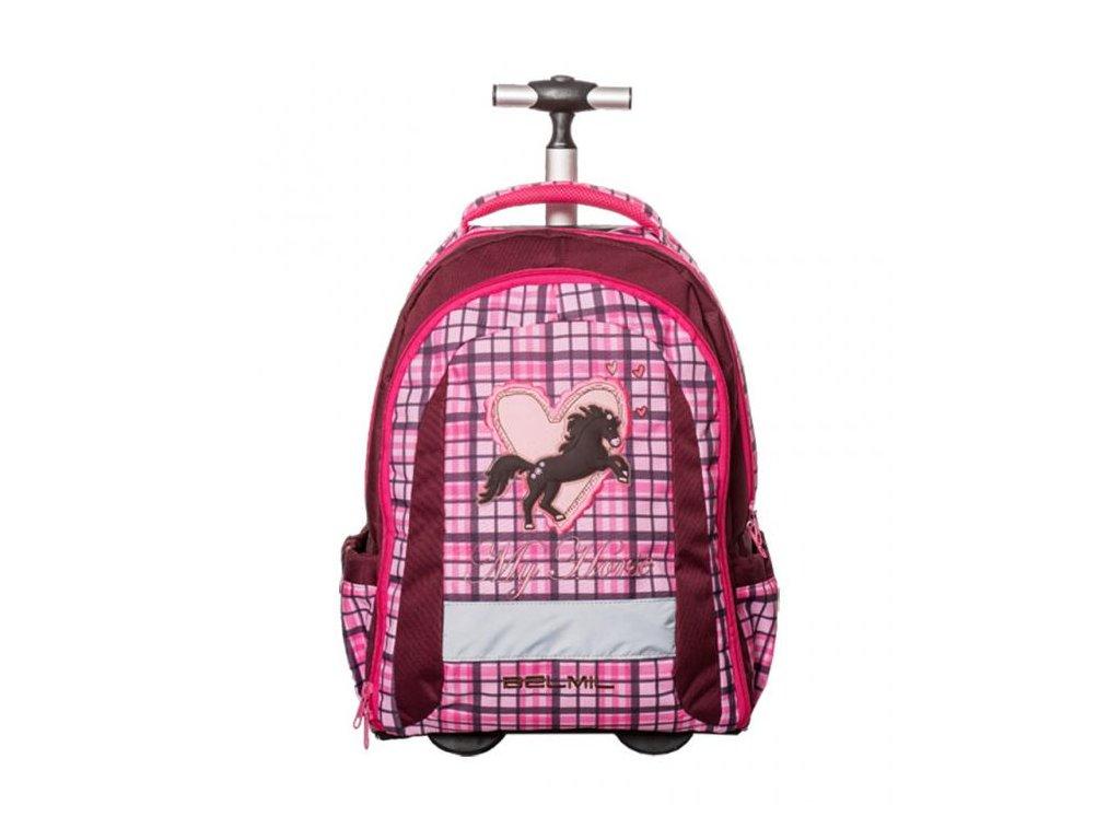 9969 4 skolni batoh na koleckach my pretty horse sacek na prezuvky