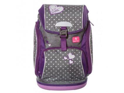 10005 5 skolni batoh heart sacek na prezuvky