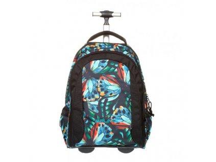 10011 4 skolni batoh na koleckach flaps sacek na prezuvky