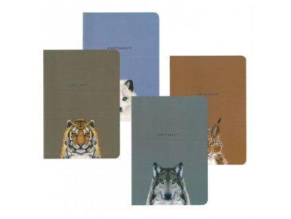 10392 skicovaci notes a5 64l animals