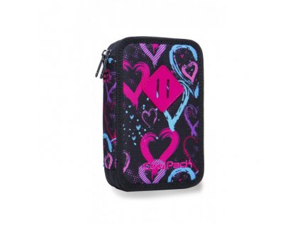 10938 skolni penal coolpack jumper 2 drawing hearts