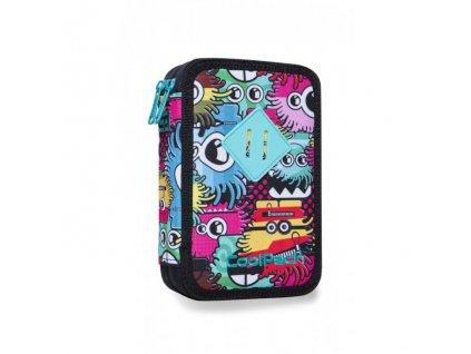 10947 skolni penal coolpack jumper 2 wiggly eyes pink