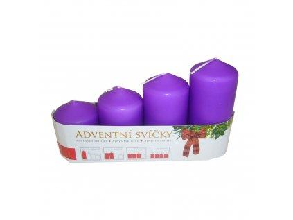 sada adventni svicky fialove set venec zet shop servis