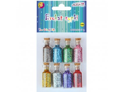dekoracni brokat v lahvicce vanocni trpytivy osm barev tvoreni zet shop servis