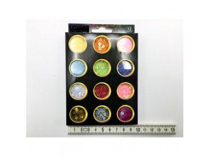 dekoracni konfety 12 barev zet shop servis