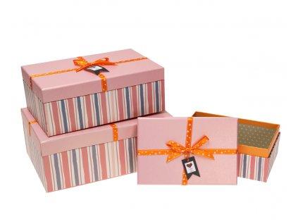 darkove krabice s pruhy ruzove