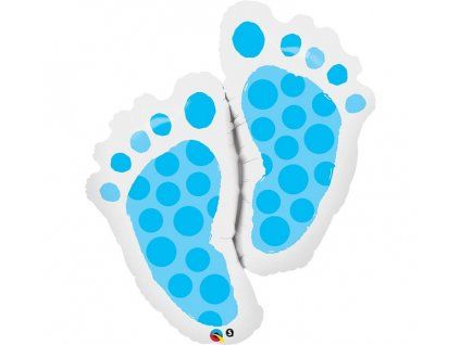 Fóliový balónek Baby feet - modrý