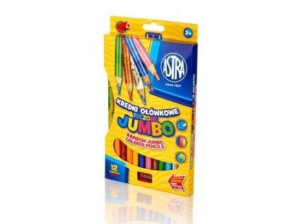 487 2 astra jumbo pastelky 12 ks rainbow