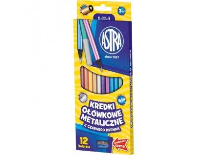 490 2 astra pastelky metalicke 12 barev