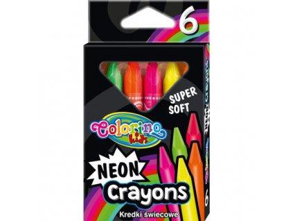 5923 1 colorino voskovky 6 barev neon trio