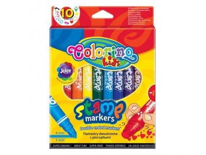 6172 1 colorino fixy oboustranne s razitkem 10 barev