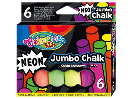 6478 1 colorino chodnikove kridy neon jumbo 6 barev