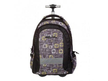 9948 4 skolni batoh na koleckach neon yellow sacek na prezuvky