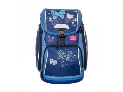 9999 5 skolni batoh blue butterfly sacek na prezuvky